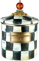Mackenzie Childs MacKenzie-Childs - Courtly Check Enamel Canister - Tartan - Small