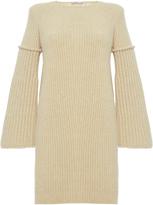 Agnona Fashion Camel Wide Sleeves Dress
