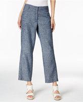Eileen Fisher Hemp-Organic Cotton Chambray Wide-Leg Ankle Pants