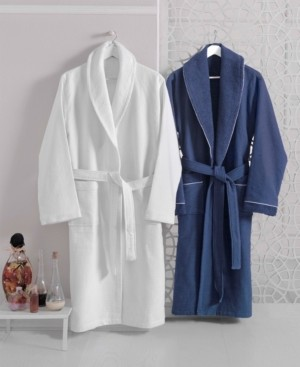 Enchante Home Waffle Terry Turkish Cotton Bathrobe Bedding