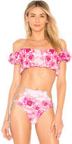 Lolli Swim Full Bloom Reversible Bikini Top