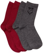 Charlotte Russe What The Fox Crew Socks - 2 Pack