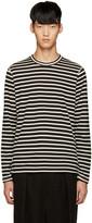Junya Watanabe Black & White Stripe T-Shirt