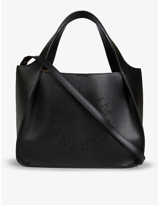 Stella McCartney Circle logo faux leather shoulder bag
