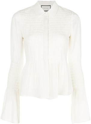 Alexis Chantal shirred bell-sleeved shirt