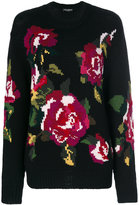 Dolce & Gabbana floral intarsia sweater - women - Cashmere/Wool/Virgin Wool - 40