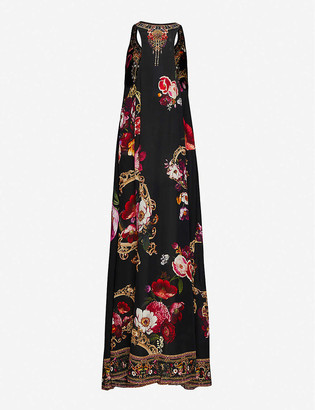 Camilla Mirror Mirror floral-print silk maxi dress