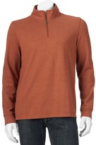 Croft & Barrow Men's Classic-Fit Mockneck Quarter-Zip Pullover