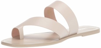 Kensie womens flat sandal with toe loop