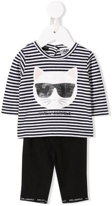 Karl Lagerfeld Paris Choupette Love stripe set