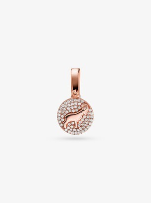 Michael Kors 14K Rose Gold-Plated Sterling Silver Pave Aries Zodiac Charm