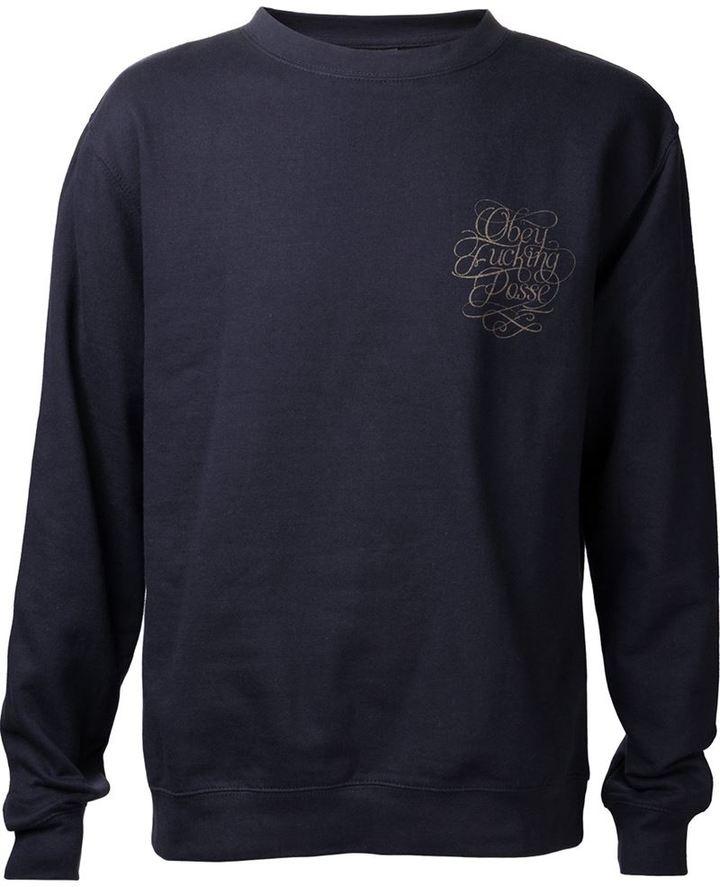 Obey 'Uptown Script' sweater