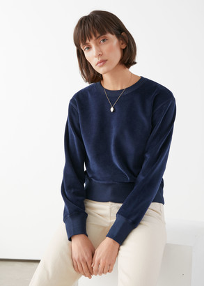 And other stories Velour Crewneck Sweater