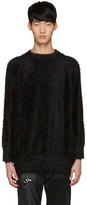 Diet Butcher Slim Skin Ssense Exclusive Black Shaggy Loose Pullover