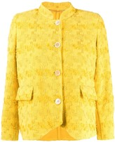 Ermanno Scervino embroidered fitted jacket