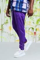 BoohooMAN Big & Tall Quavo Tricot Pintuck Joggers