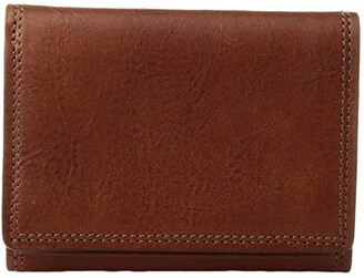 Bosca Dolce Collection - Double I.D. Trifold (Amber) Wallet Handbags