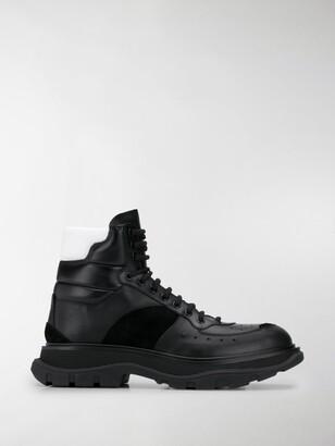 Alexander McQueen Lace-Up High-Top Sneakers