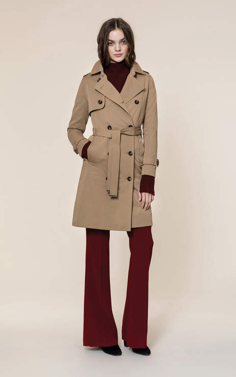 Soia & Kyo BRIGITTA water-repellent double-breasted trench coat