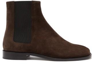 Maison Margiela Tabi Split-toe Suede Chelsea Boots - Brown