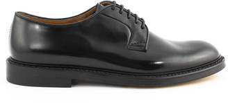 Doucal's Doucals Black Leather Derby Shoes