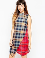 House of Holland Plaid Wrap Dress