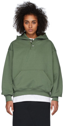 Fear Of God Green Sixth Collection Everyday Henley Hoodie