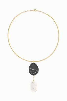 Cvc Stones 18-karat Gold Multi-stone Choker - one size