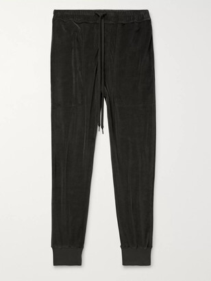 Tom Ford Slim-Fit Tapered Cotton-Blend Velour Sweatpants