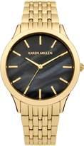 Karen Millen Ladies gold tone bracelet watch