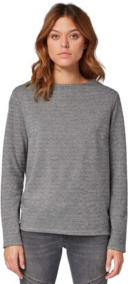 Tom Tailor Women's Mantel Wolloptik Revers Langarm Sweatshirt