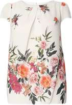 Dorothy Perkins **Billie and Blossom Curve Tropical Shell Top
