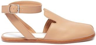Maison Margiela Tabi' ankle strap flat leather mules