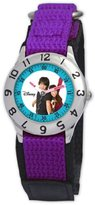 Disney Kids' D838S504 Camp Rock Shane and Mitchie Time Teacher Purple Velcro Strap Watch