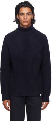 Norse Projects Navy Wool Turtleneck