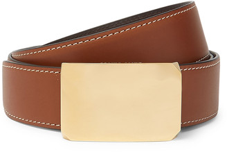 Salle Privée 4cm Brown And Tan Milton Reversible Leather Belt