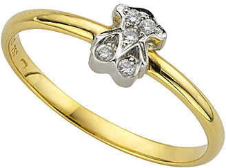 Tous Puppies 18K Diamond Ring