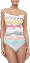Missoni Ruffle-Trim Patterned One-Piece