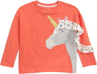 Boden Frilly Unicorn Long Sleeve T-Shirt