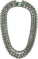 Larkspur & Hawk Bella 3 Strand Riviere Necklace - Green