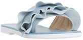 Dune Laria Ruffle Slider Sandals