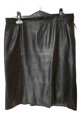 Louis Vuitton Black Leather Skirts
