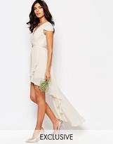 TFNC WEDDING High Low Cold Shoulder Dress