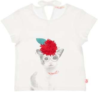 Billieblush Cat Print Cotton Jersey T-Shirt