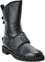 Thumbnail for your product : Fendi Ff Biker Leather Boot