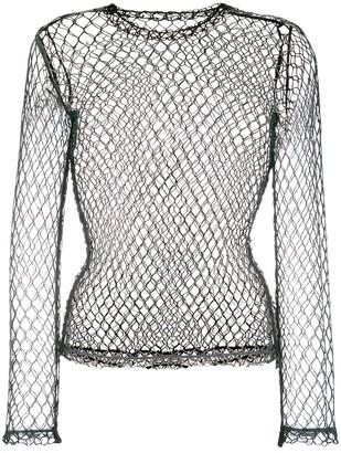 Comme des Garcons fishnet long sleeved top