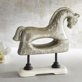 Pier 1 Imports Silver Antiqued Horse on Marble Base