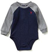 Ralph Lauren Baby Boys 3-12 Months Color Block Interlock Bodysuit