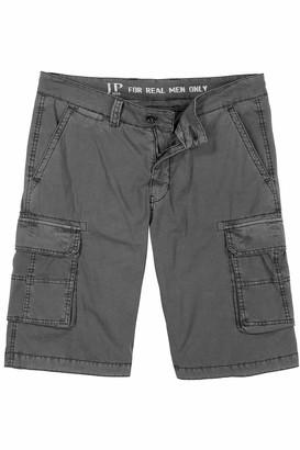 JP 1880 Men's Big & Tall Cargo Shorts Grey 58 720249 12-58