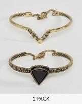 Asos Triangle Etched Bracelet Pack